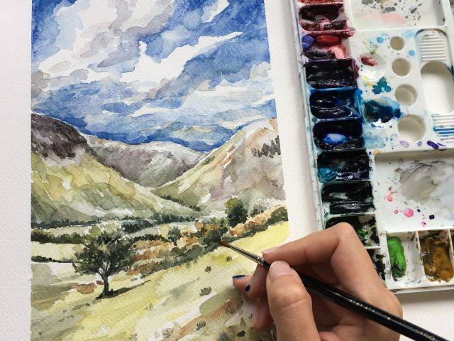 Watercolour Painting Workshops with itchyfingers